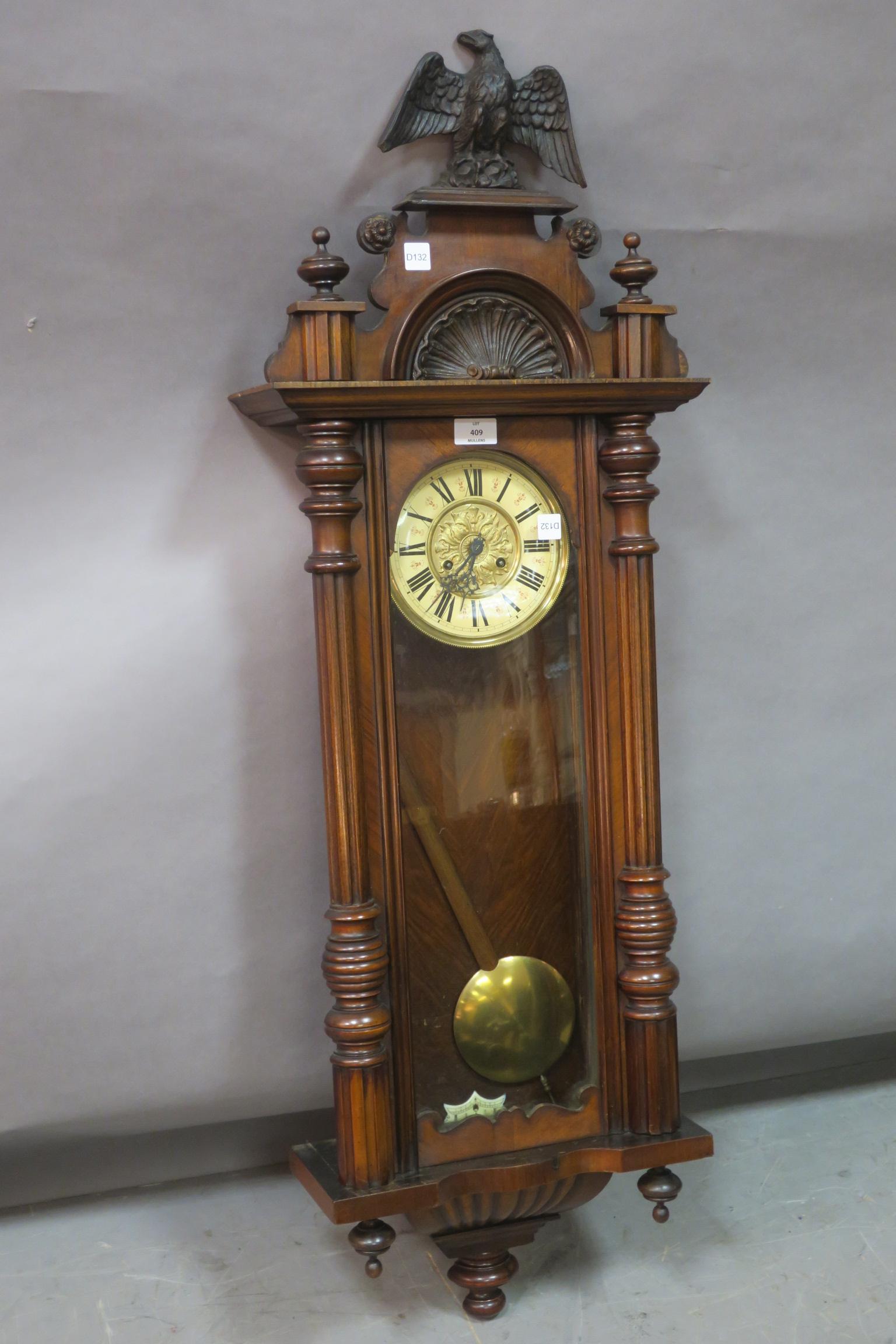 Lot 248 - A FINE 19th CENTURY KINGWOOD AND MAHOGANY CASED VIENNA WALL CLOCK,