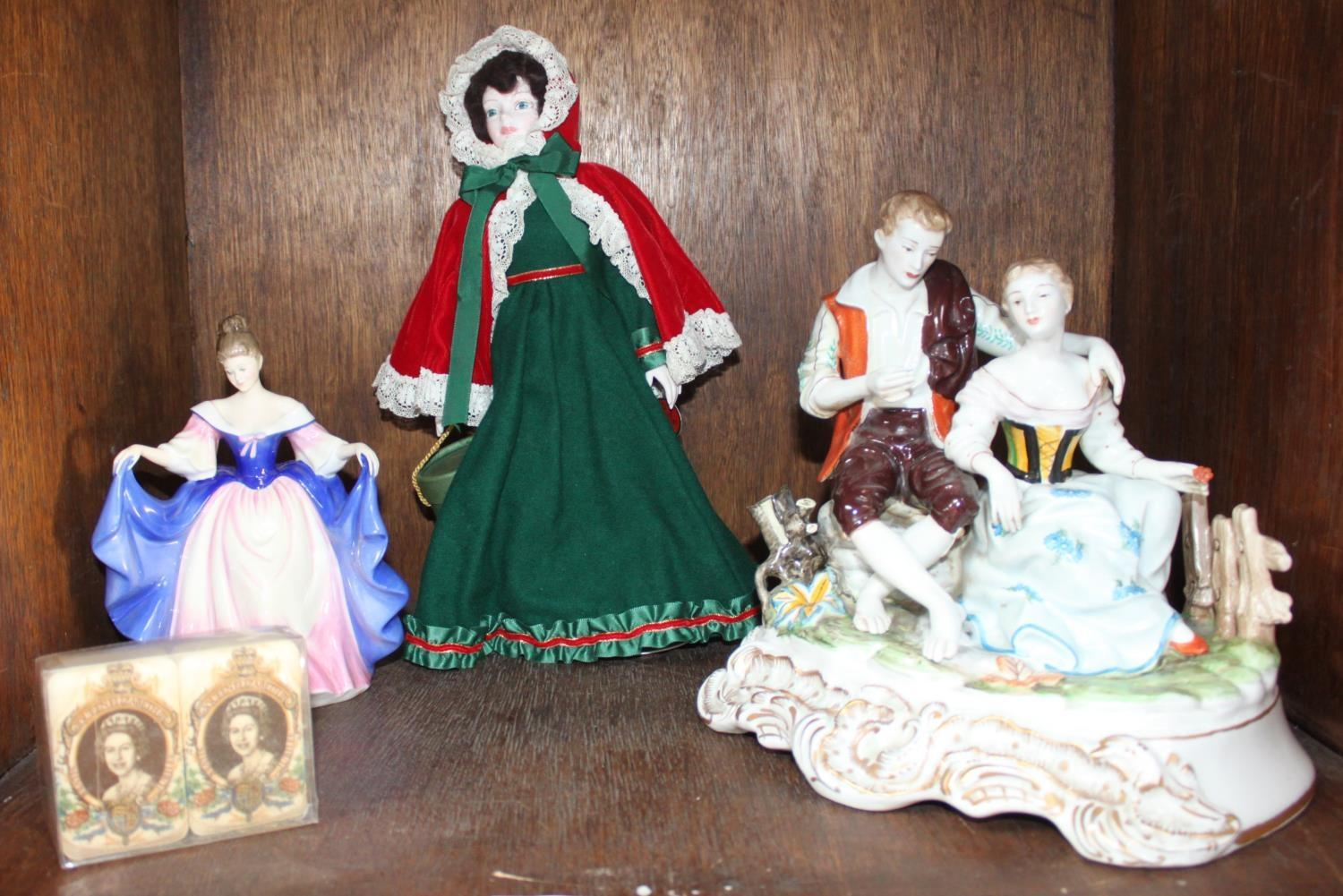 Lot 33 - SECTION 33. A Royal Doulton figure of a lady 'Sara HN3308' and a Royal Doulton 'Nisbet' Christmas