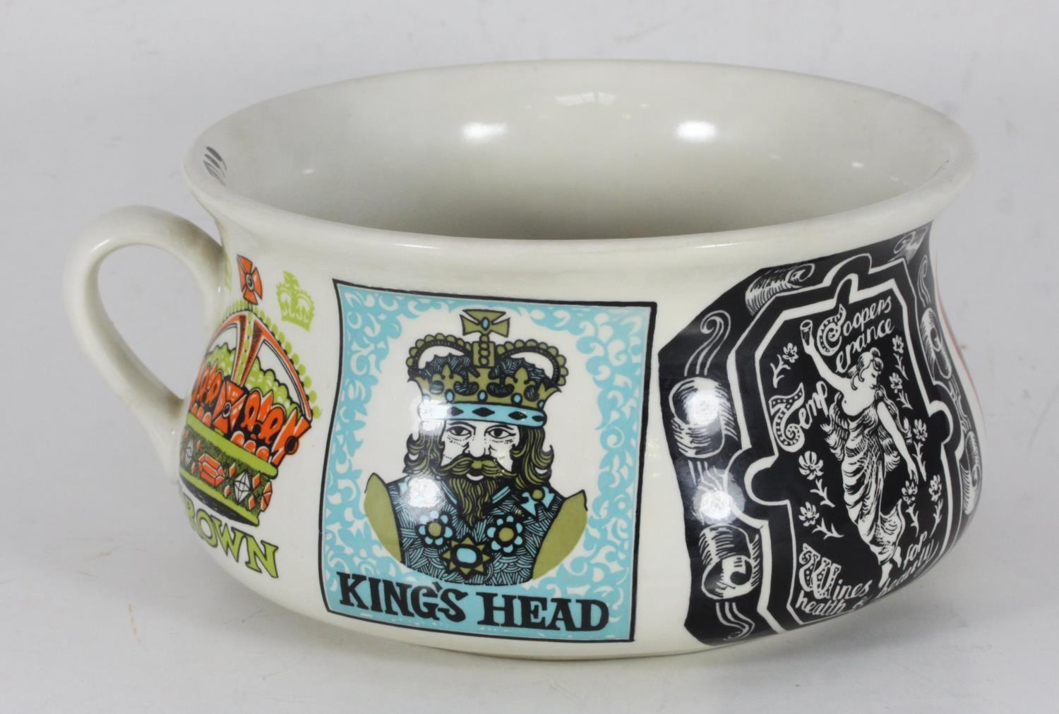 Lot 171 - Tommy Cooper Interest. A one-off personalised Portmeirion Pottery chamber pot reputably given to