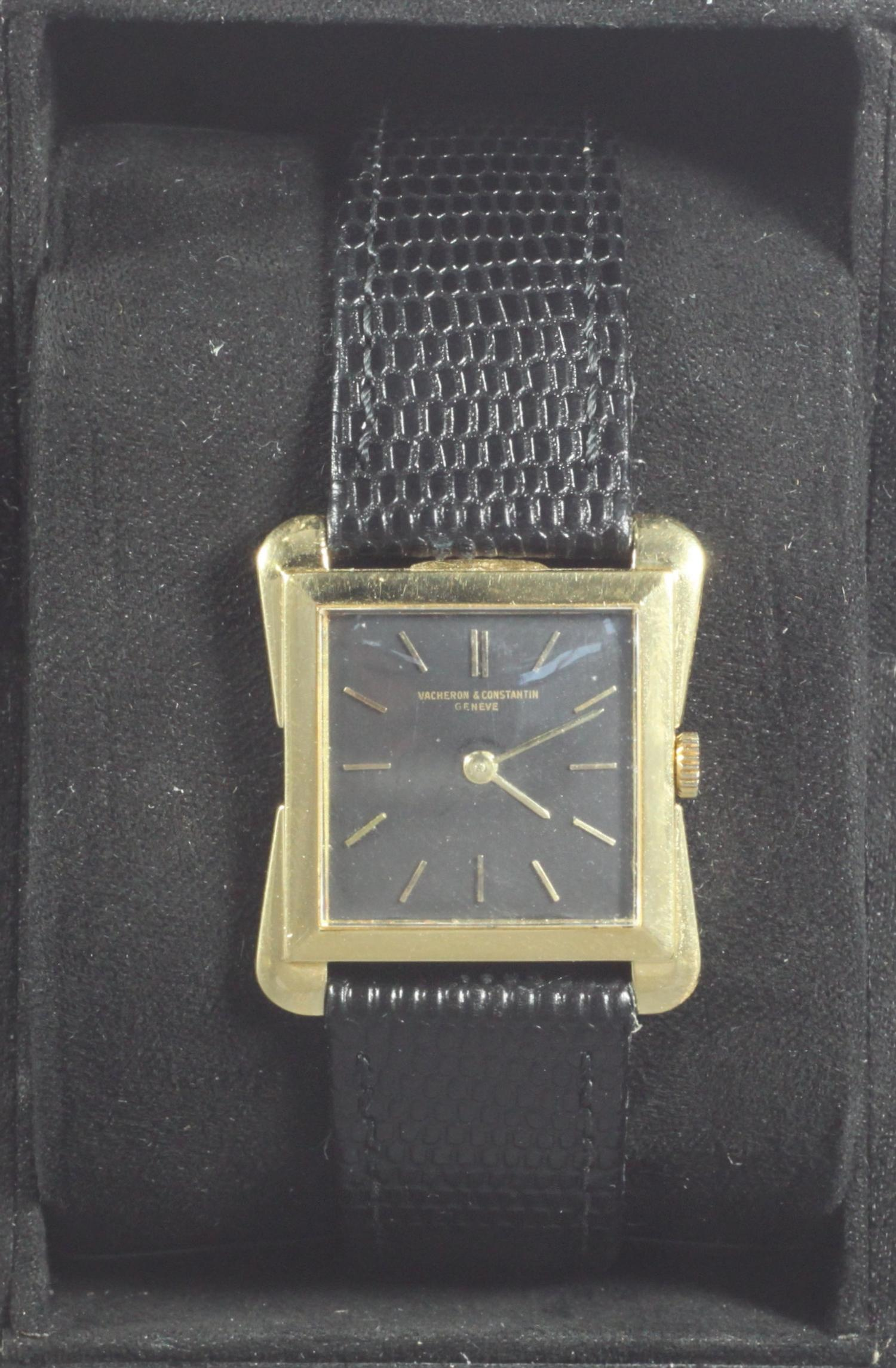 Lot 118 - A gents 18ct gold Vacheron & Constantin Toledo Ultra Thin wristwatch, c.1954, Ref. 4963, the square,