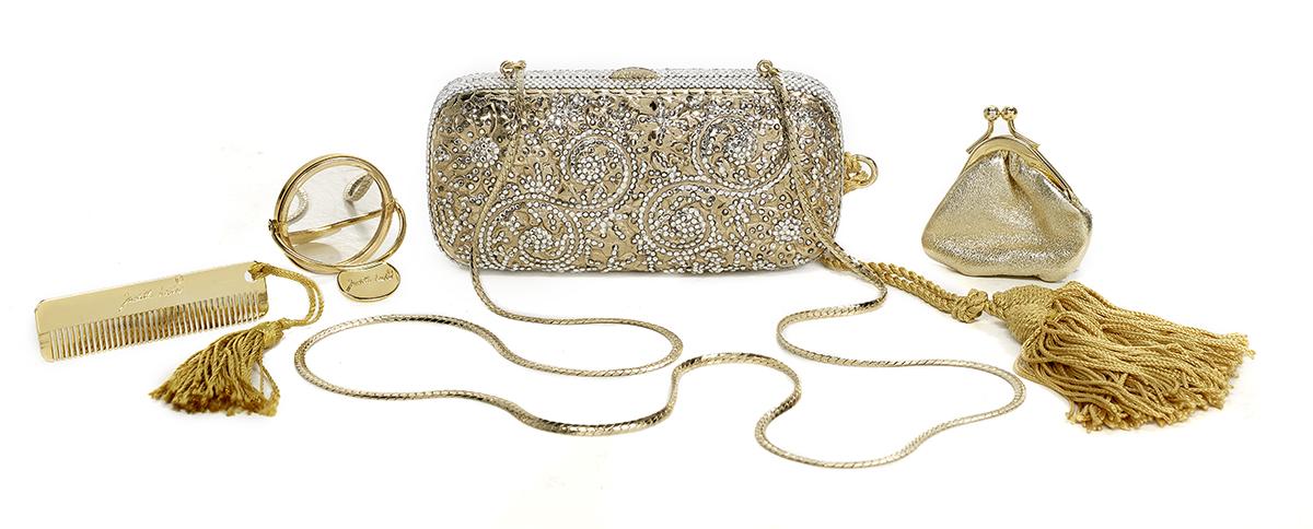 Lot 597 - Vintage Judith Leiber Jeweled Minaudiere
