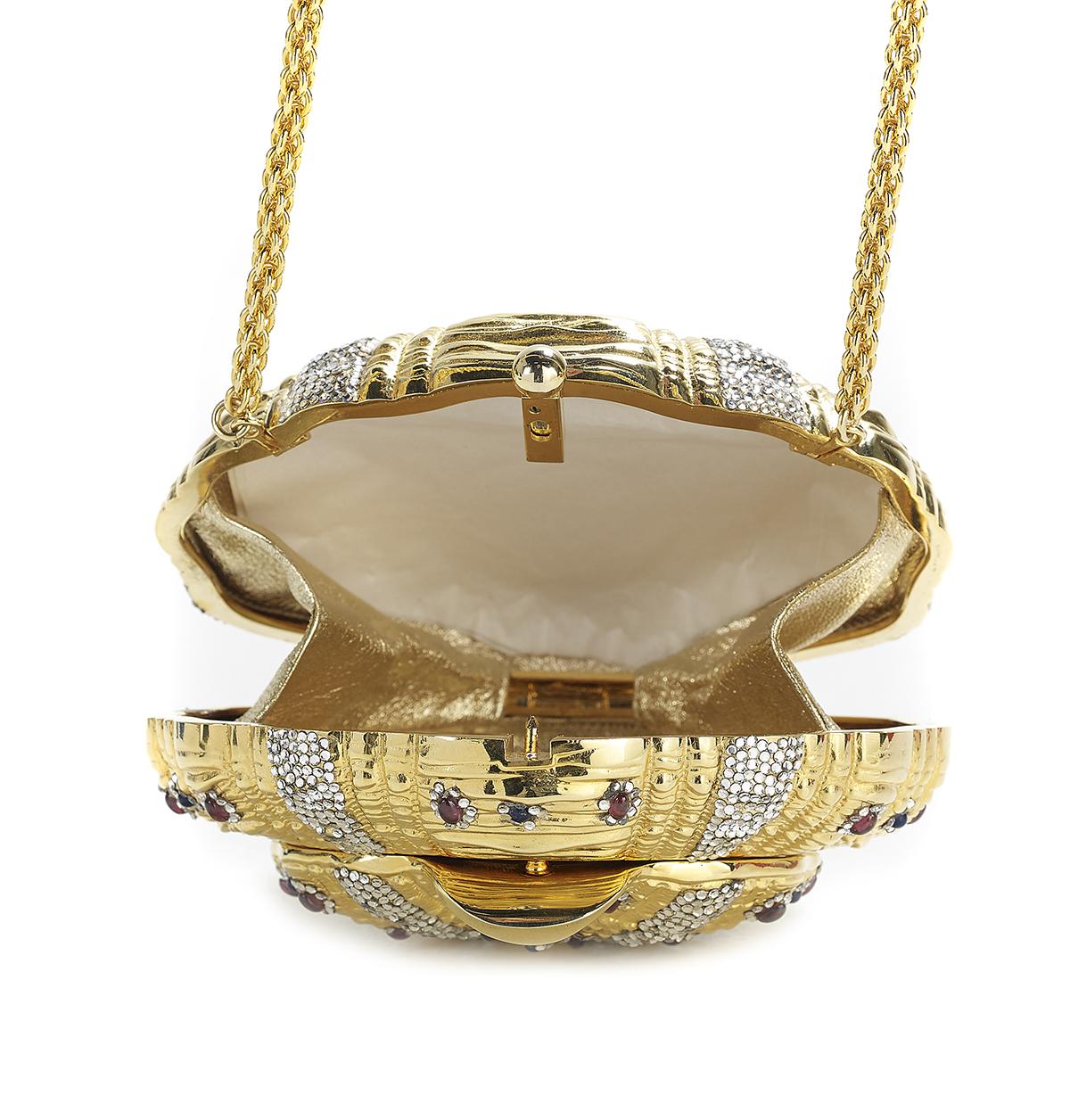 Lot 596 - Vintage Judith Leiber Jeweled Minaudiere