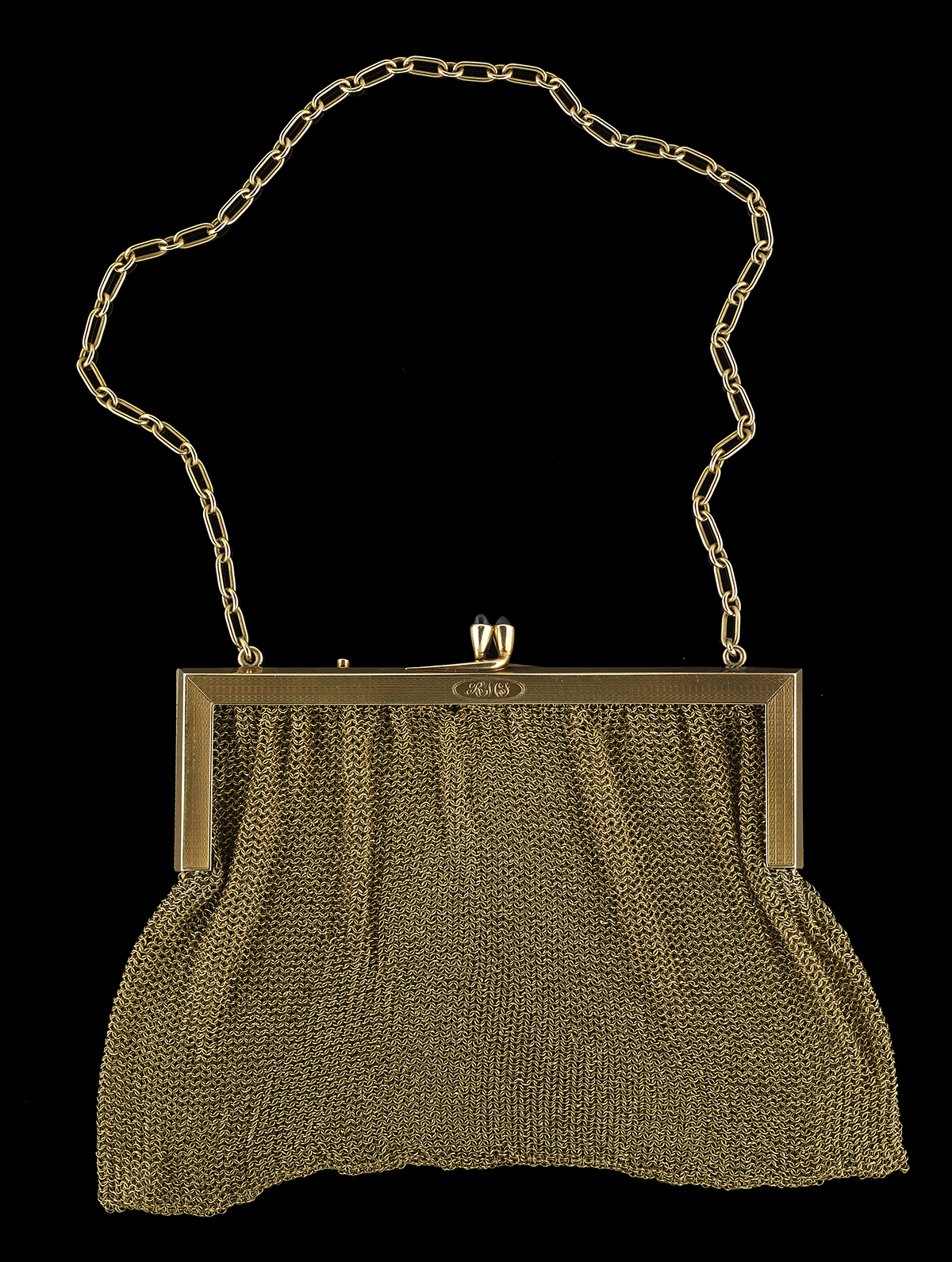 Lot 551 - 14k Yellow Gold and Sapphire Purse
