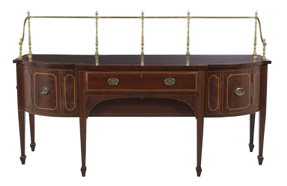 Lot 498 - George III Mahogany Sideboard