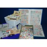 Lot 1051 - A stock book with commemorative Stamps from Canada, Zanzibar, etc including; KUT KGV 5's,