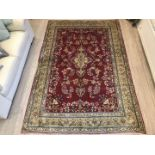 Lot 1061 - A hand-made Kerman Rug,