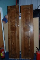 Lot 1046 - A set of four Oak raised and fielded panelled Doors, each 18 1/4'' x 83'' high approx.