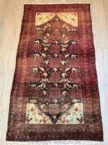 Lot 1059 - A hand-made Shiraz red Rug,
