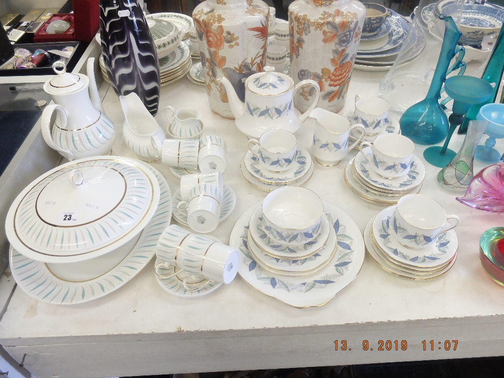 "Lot 23 - A Ridgeway Caprice part dinner service plus a Royal Standard ""Trend"" part dinner service"