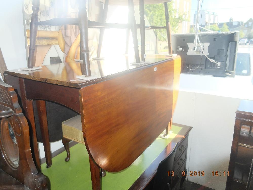 Lot 313 - A 19th century mahogany Gate leg table