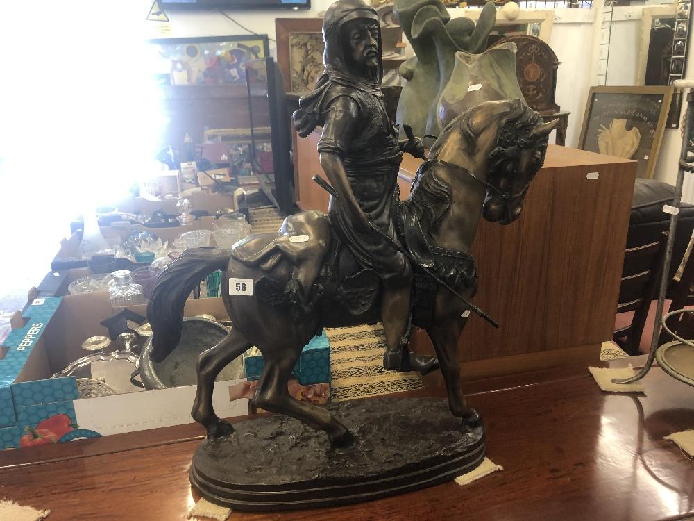 Lot 44 - A bronze sculpture of Bedouin on horseback