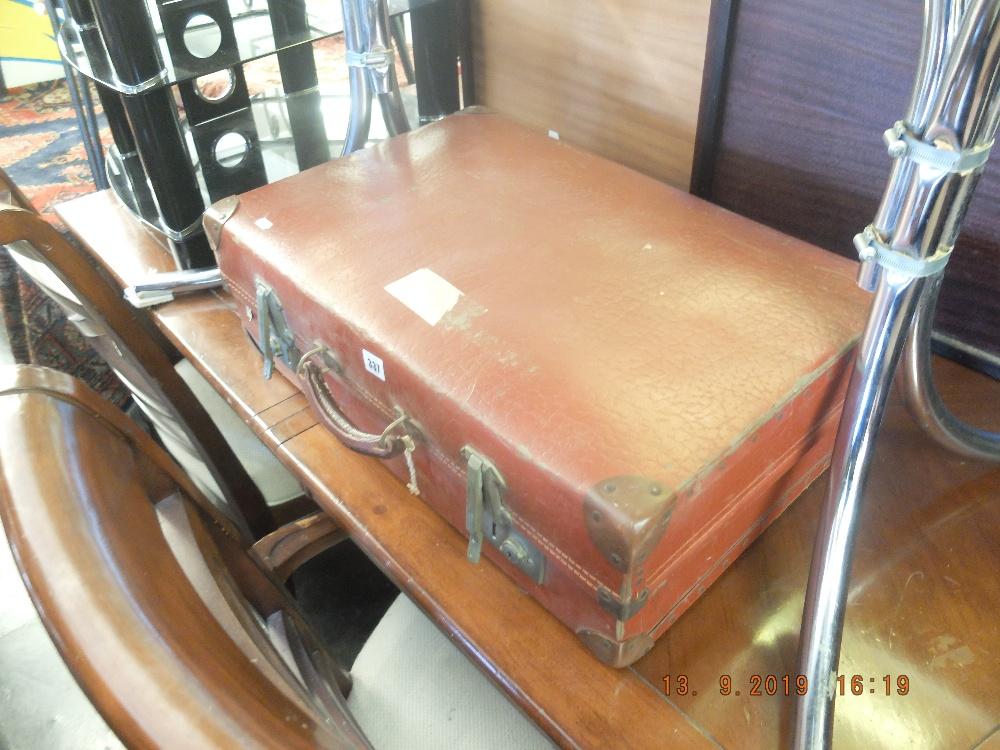 Lot 337 - Vintage leather suit case