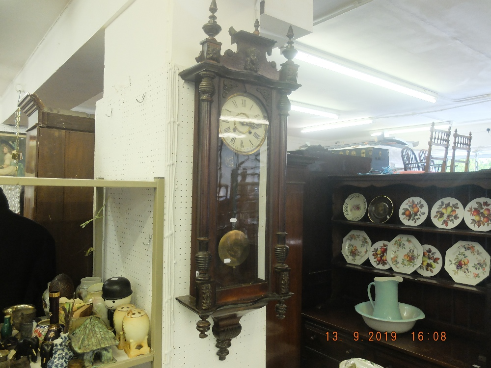 Lot 303 - A 19th century Vienna regulator clock