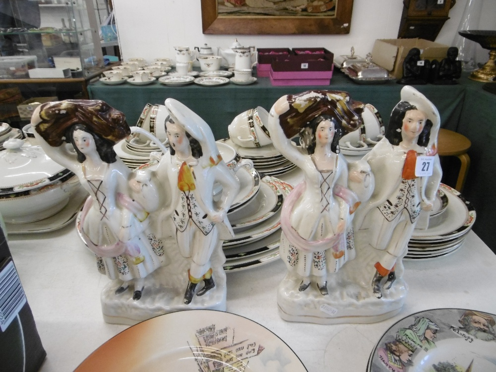 Lot 13 - A pair of Victorian Staffordshire flat backs, good condition,