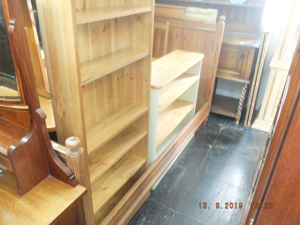 Lot 347 - A pitch pine double bed