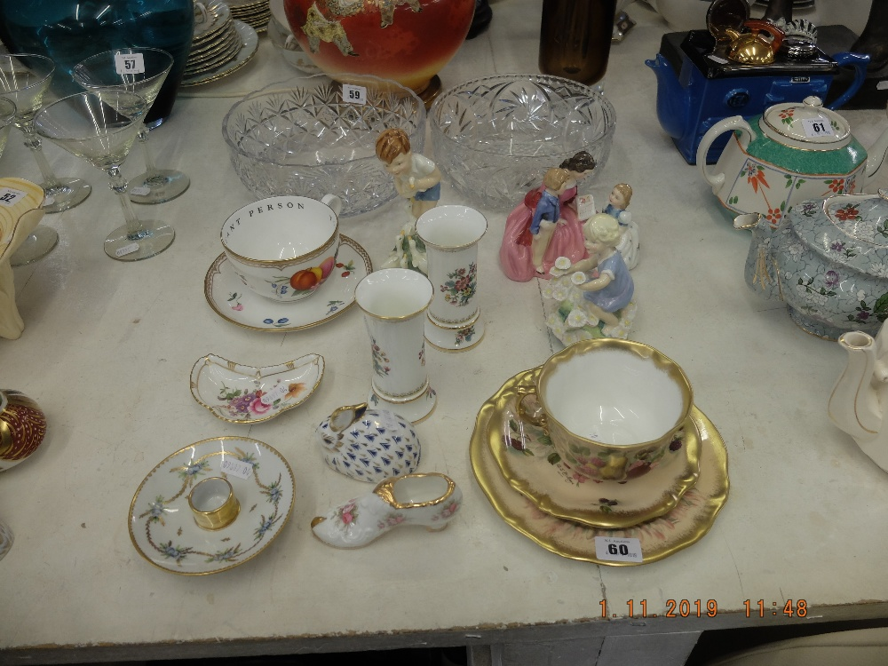 Lot 60 - A mixed assortment of china including Hammersley trio,