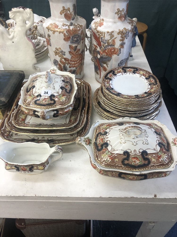 Lot 5 - A Lincoln pottery dinner set