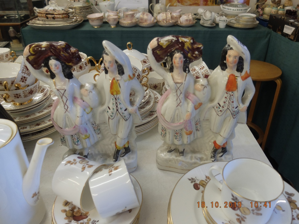 Lot 30 - A pair of Victorian Staffordshire flat backs, good condition,