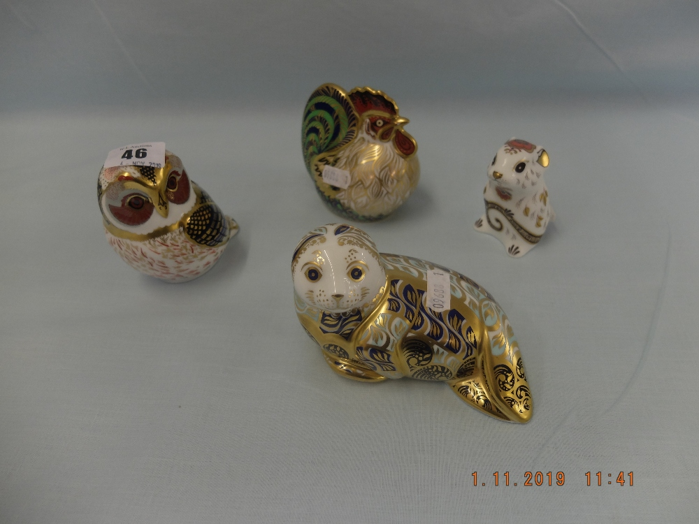 Lot 46 - Four Crown Derby paperweights