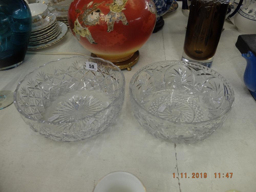 Lot 59 - Two cut glass bowls