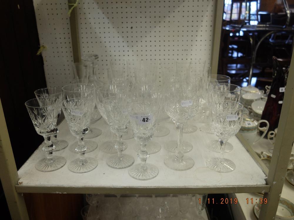 Lot 42 - A quantity of cut crystal glassware