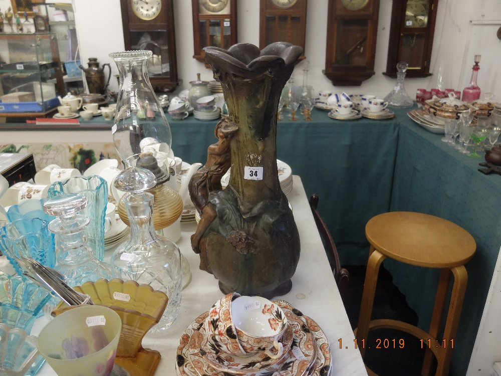 Lot 34 - An early French art nouveau vase,