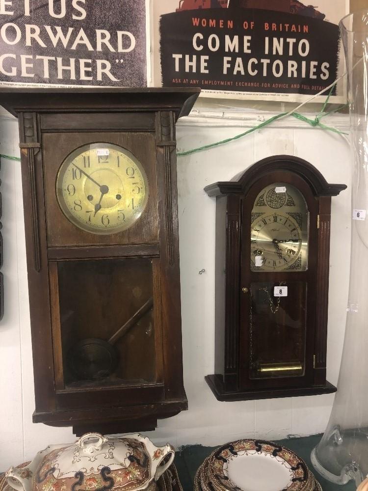 Lot 8 - Two wall clocks