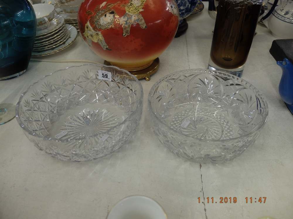 Lot 27 - Two cut glass bowls
