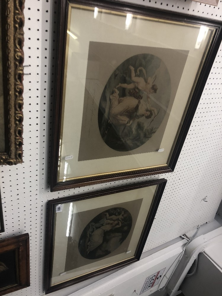 Lot 204 - A pair of framed and glazed prints