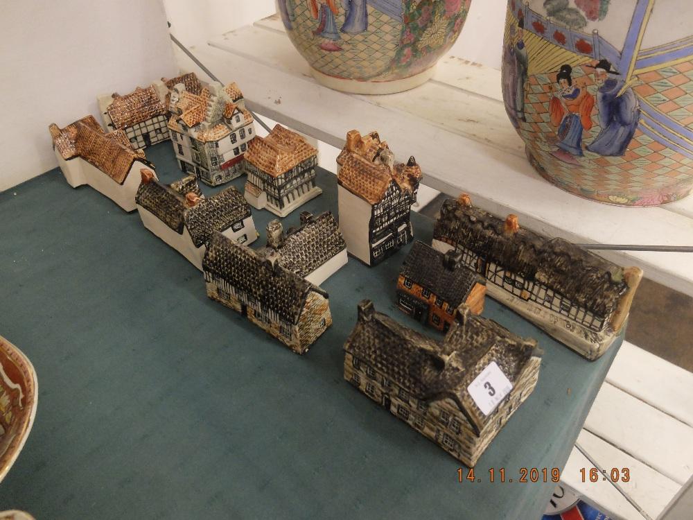 Lot 3 - A quantity of pottery houses