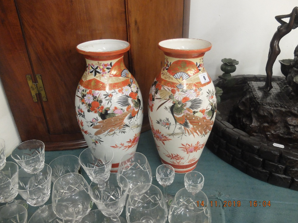 Lot 9 - A pair of oriental vases