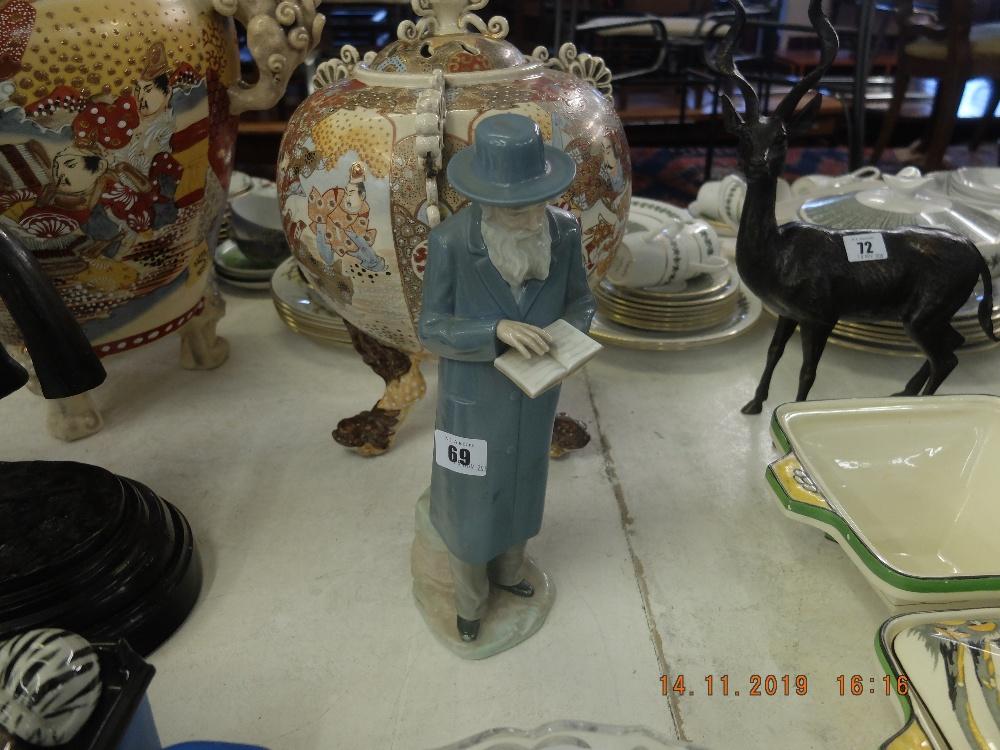 Lot 69 - A Nao porcelain figure of a rabbi