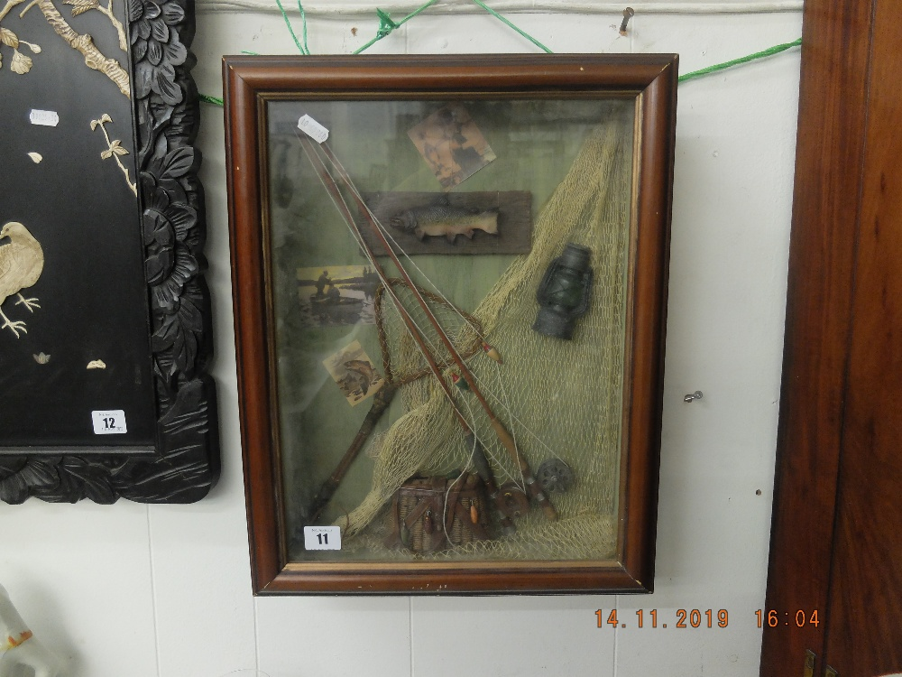 Lot 11 - A framed fishing picture