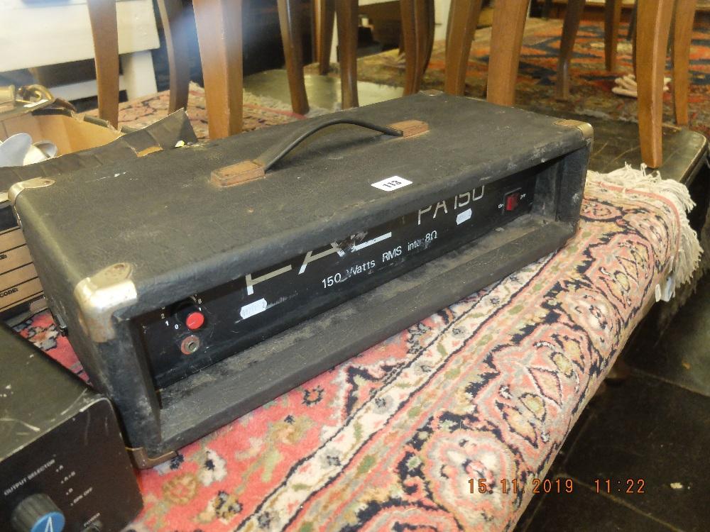 Lot 113 - A PA amplifier 2/2