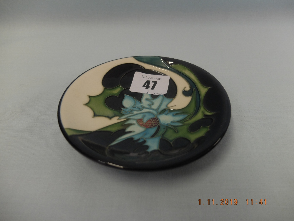 Lot 64 - An Emma Bossons Moorcroft pin tray