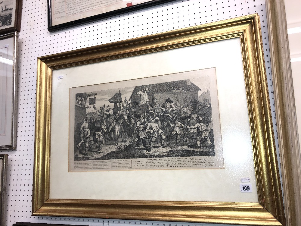Lot 182 - An engraving after Hogarth