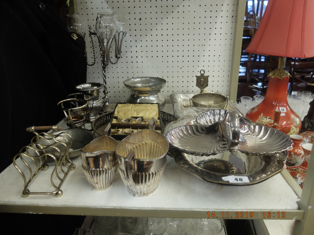 Lot 48 - A quantity of assorted silver plate including Walker & Hall
