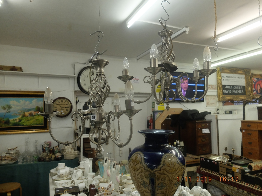 Lot 207 - A pair of contemporary chandeliers