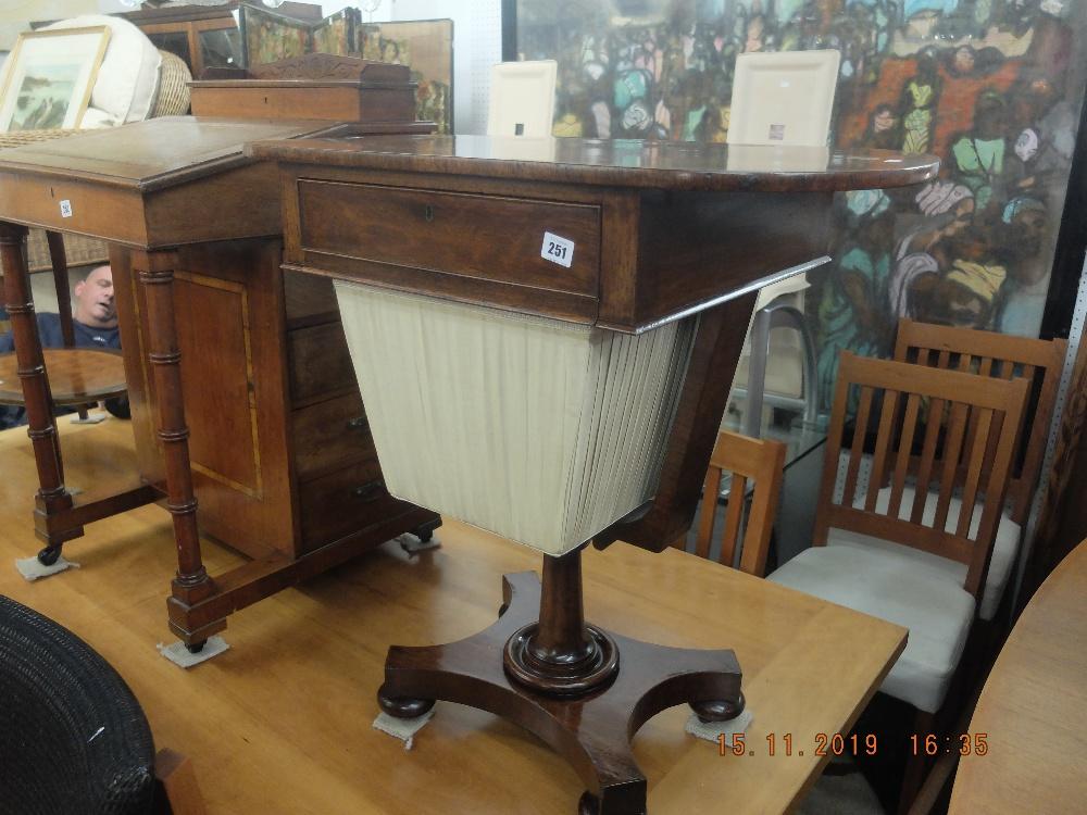 Lot 251 - A 19th century mahogany worktable