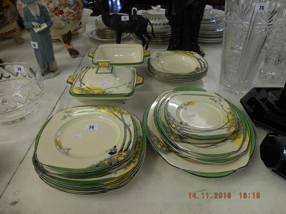 Lot 74 - A Burleigh Ware dinner set a/f