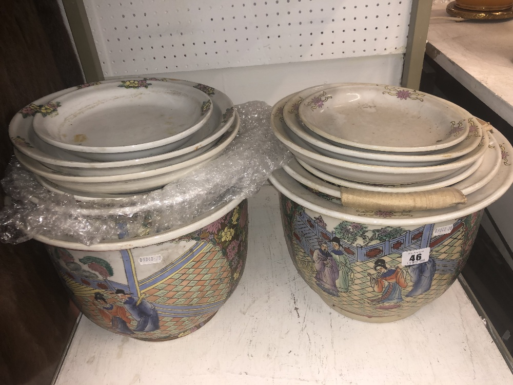Lot 2 - Two Canton planters