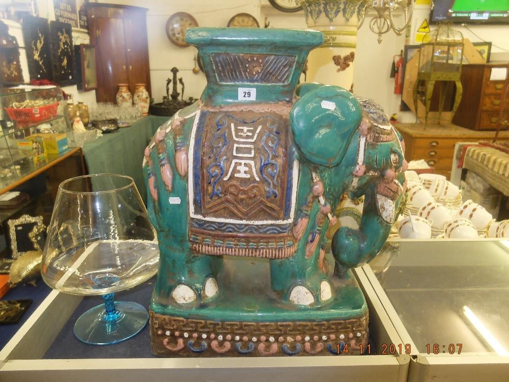 Lot 29 - A porcelain elephant