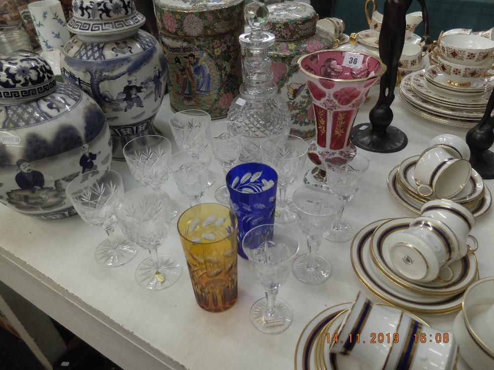 Lot 36 - A quantity of assorted glassware
