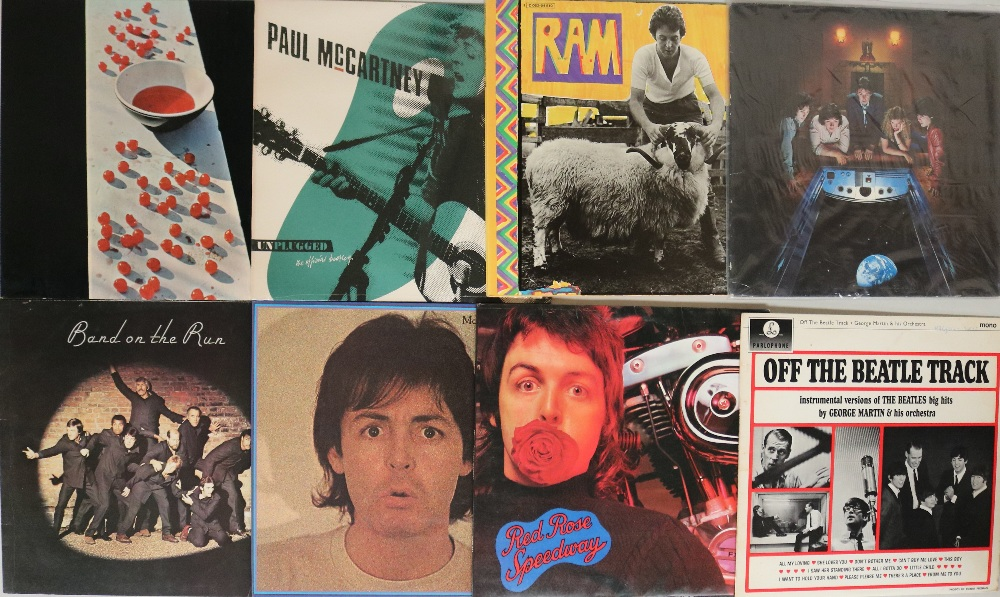 "Lot 21 - SOLO BEATLES/BEATLES RELATED - LPs. Great run of 21 x LPs with 1 x 12""."