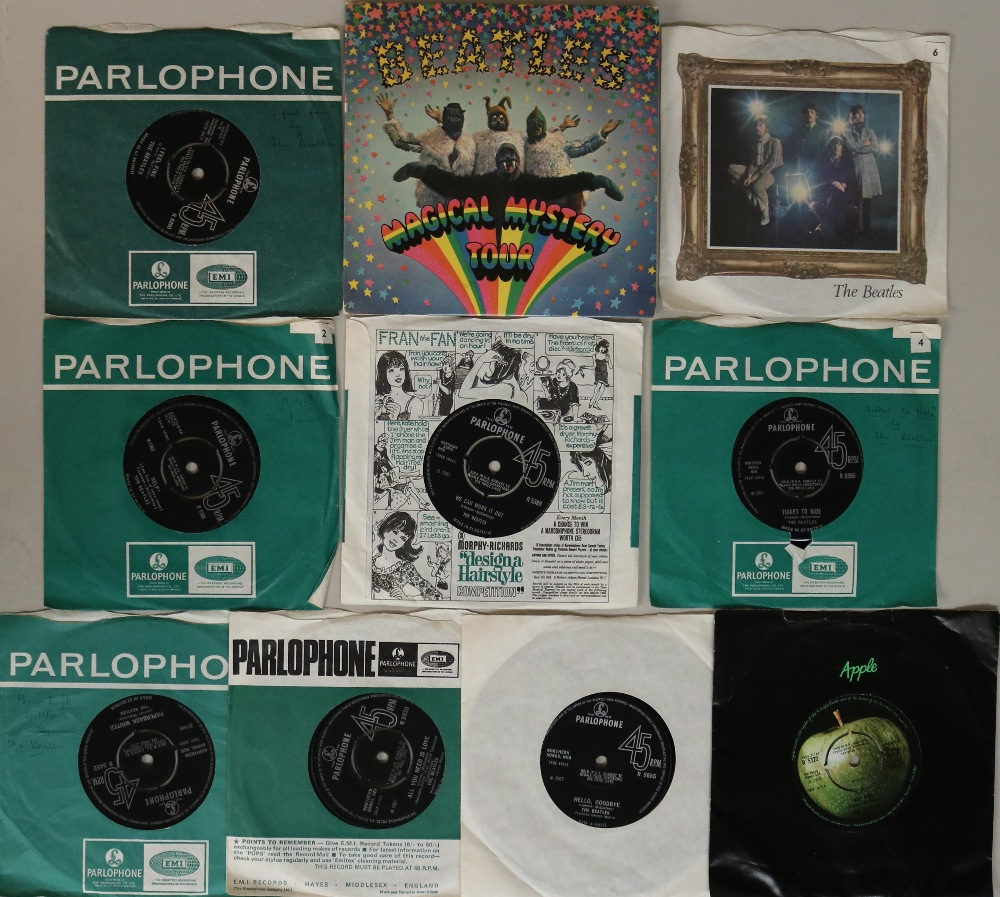 "Lot 13 - STUDIO LPs WITH 7"". Smartly presented collection of 4 x LPs with 10 x 7""."