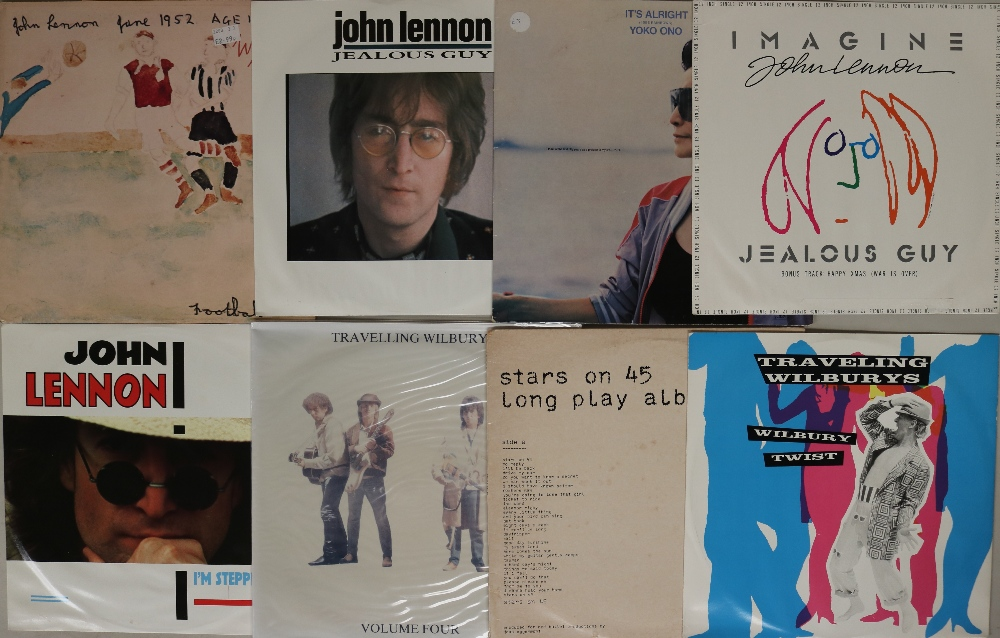 """Lot 56 - RINGO, JOHN & GEORGE - LPs/12"""". Exploring the solo output with these 24 x LPs/12"""" with 1 x 10""""."""