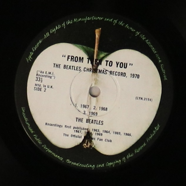 Lot 7 - FROM THEN TO YOU - THE BEATLES CHRISTMAS RECORD 1970 LP (ORIGINAL UK PRESSING ON APPLE).