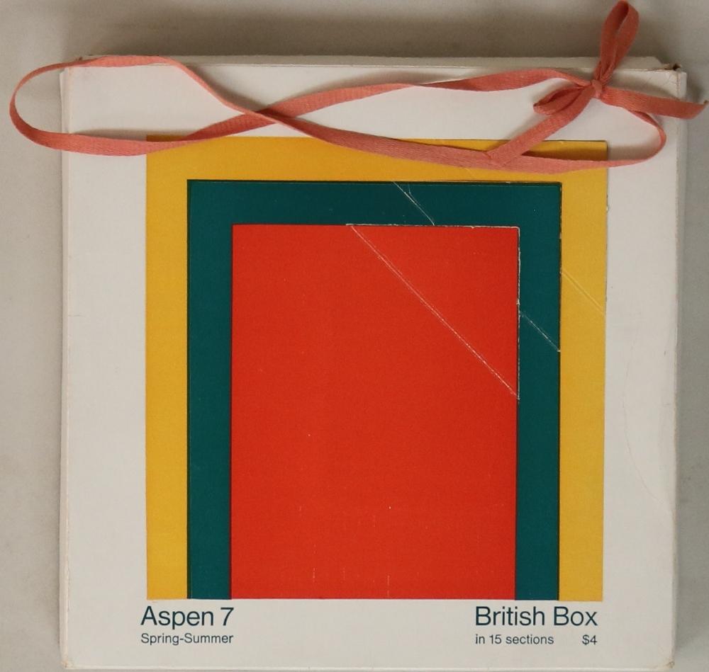 Lot 19 - ASPEN MAGAZINE - BRITISH BOX (NUMBER 7).