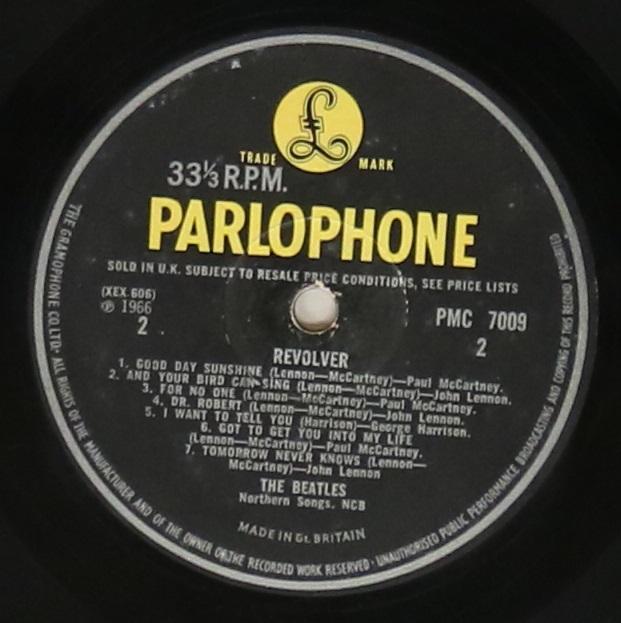 Lot 58 - REVOLVER LP (ORIGINAL UK MONO WITHDRAWN MIX PMC 7009).