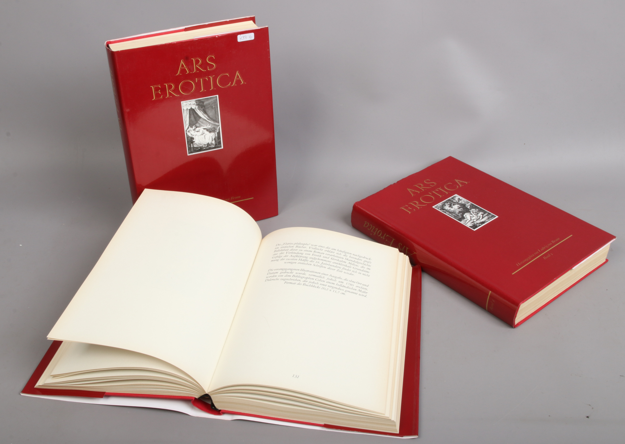 Lot 106 - Three hardback volumes of ARS Erotica with dust jackets 1989 printed in spain.